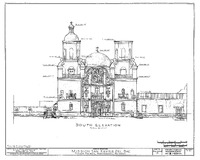 San Xavier del Bac, Tucson, Architectural Drawing