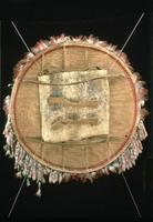 Feathered Shield with Coyote, back view