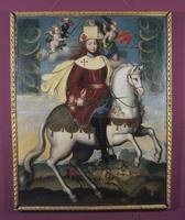 Portrait, King Philip V repainted as Santiago Matamoros