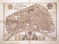 Plan of city and fortifications of Lima