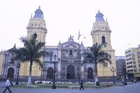 Cathedral, Lima, view from Plaza de Armas